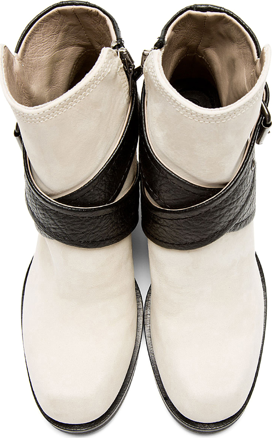 McQ Black & Ivory Nazrul Ankle Boot