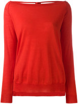 P.A.R.O.S.H. open back sweater - women - Cashmere - XS