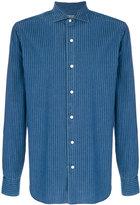 Barba pinstriped shirt jacket