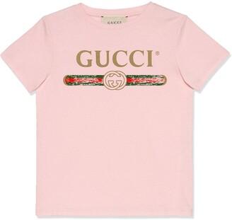 Gucci Kids logo print short-sleeve T-shirt