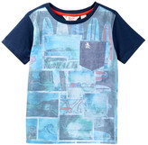 Original Penguin Blocked Beach Short Sleeve Tee (Little Boys)