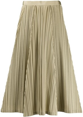 Salvatore Ferragamo pleated A-line skirt
