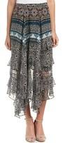 Ella Moss Cascading Silk Skirt.