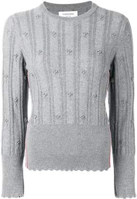 Thom Browne Flower Cable Pullover