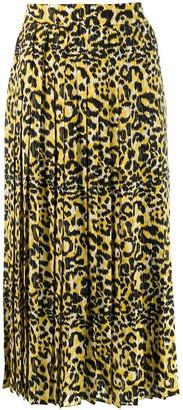 Gucci Leopard-Print Pleated Skirt
