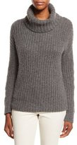 Loro Piana Davenport Cashmere Turtleneck Sweater, Dark Gray