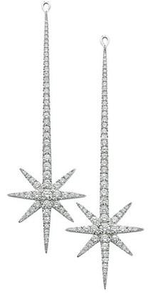 Robinson Pelham Tsar Star 14K White Gold & Diamond Drop Earrings