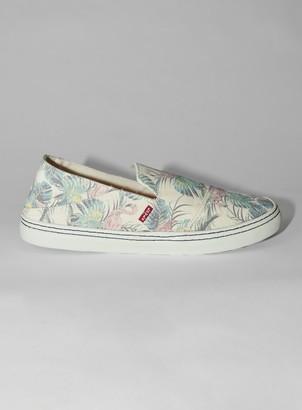 Topman LEVI'S Sherwood Organic Cotton Printed Slip On Shoes