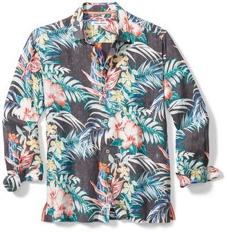 Tommy Bahama Garden Paradise Tropical Print Linen Regular Fit Shirt