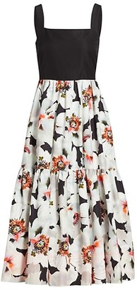 Tanya Taylor Gia Floral Midi Dress