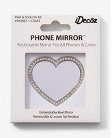 Express Idecoz Embellished Heart Phone Mirror