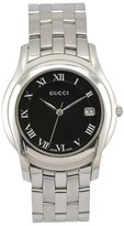 Gucci 5500M Stainless Steel with Black Dial 35mm Mens Watch