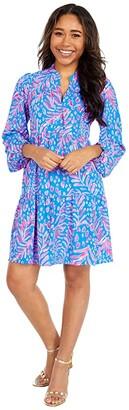 Lilly Pulitzer Winona Stretch Dress (Pundy Blue La Zebra) Women's Dress