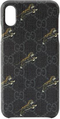 Gucci Soft GG Supreme tigers iPhone XS Max case