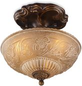 Bed Bath & Beyond ELK Lighting Restoration 10-Inch 3-Light Semi-Flush Fixture in Antique Golden Bronze
