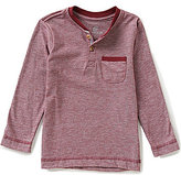 Class Club Little Boys 2T-7 Fine Stripe Knit Henley