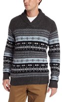 Nautica Men's Fairisle Shawl Collar Sweater