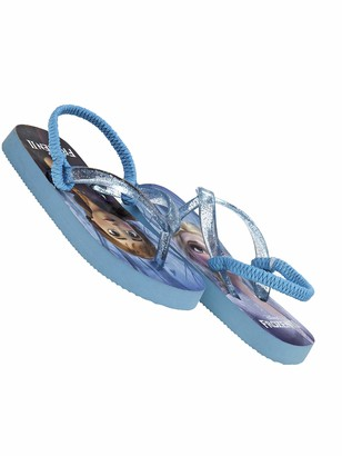 Disney Frozen Themed Girls flip Flop Sandals Dual 7-8 M