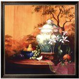 """KitchenArt """"Oriental Orange"""" Framed Canvas Wall Art by Art Fronckowiak"""