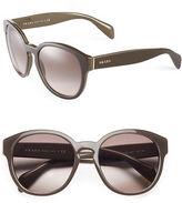 Prada 56mm Round Gradient Sunglasses