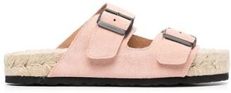Manebi Hamptons double-buckle sandals