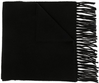 Vivienne Westwood Logo-Embroidered Fringed Scarf