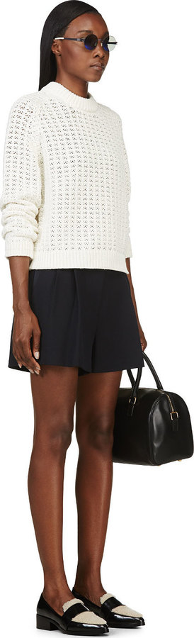3.1 Phillip Lim Ivory Open-Knit Sweater