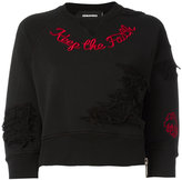 DSQUARED2 Keep The Faith sweatshirt - women - Cotton - M
