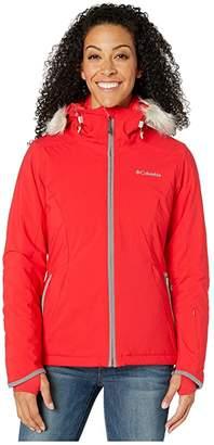 Columbia Alpine Slidetm Jacket (Red Lily/City Grey Heather) Women's Coat