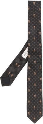 Alexander McQueen Silk Skull Print Tie