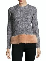 Opening Ceremony Knitted Faux-Fur Top