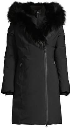 Mackage Trish Silver Fox Fur-Trim & Rabbit Fur-Line Down Coat