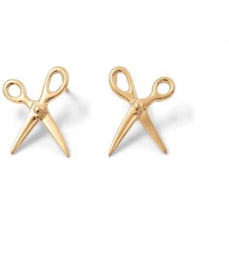 Scissor Earring 14K Yellow Gold - Pair
