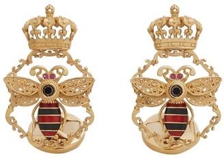 Dolce & Gabbana Bee Crown-Motif Cufflinks