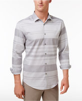 Alfani Men's Mayvis Striped Cotton Shirt, Only at Macy's