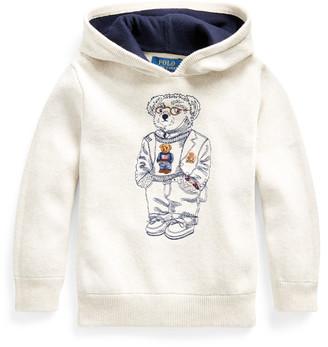 Ralph Lauren Bear Cotton Hooded Sweater