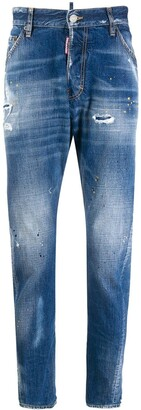 DSQUARED2 Stained-Effect Straight Jeans
