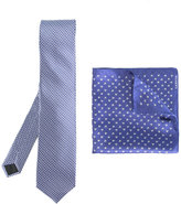 Lanvin diamonds tie and pocket square set
