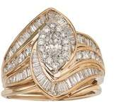 Ax Jewelry 2ct Diamond Marquise Bridal Set In 14k Gold.
