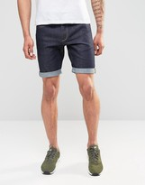 Jack and Jones Straight Fit Raw Denim Shorts