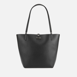 GUESS Women's Alby Toggle Tote Bag - Black/Stone