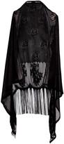 Lvs Collections LVS Collections Women's Kimono Cardigans BLACK - Black Circle Fringe-Accent Crochet Vest - Women