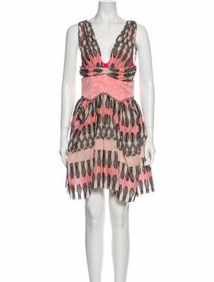 Louis Vuitton Printed Mini Dress Pink