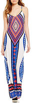 Moa Moa Printed Sleeveless Knit Maxi Dress