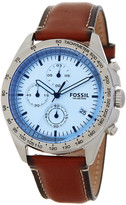 Fossil Men&s Sport Chronograph Leather Strap Watch