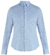 Boglioli Melange cotton-jersey shirt