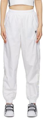 adidas White Big Logo Lounge Pants