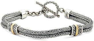 Samuel B. 18K & Silver Bracelet