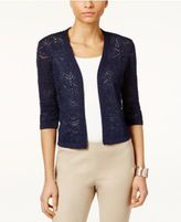 JM Collection Cropped Open-Front Cardigan, Only at Macy's