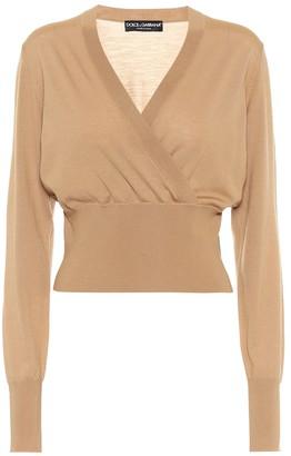 Dolce & Gabbana Cropped wool wrap sweater
